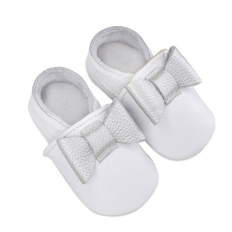 2017 Fashion butterfly-knot Baby Moccasin Newborn Babies Shoes Handmade Soft Fashion baby shoes leather First Walkers
