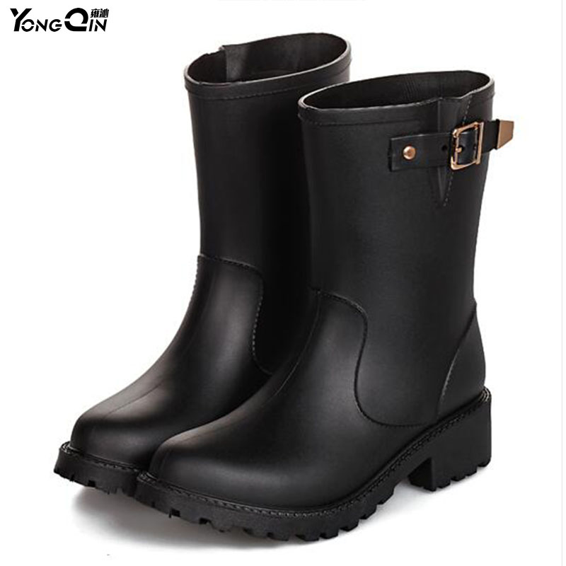 New Pvc Women Rain Boots Comfortable Waterproof Spring