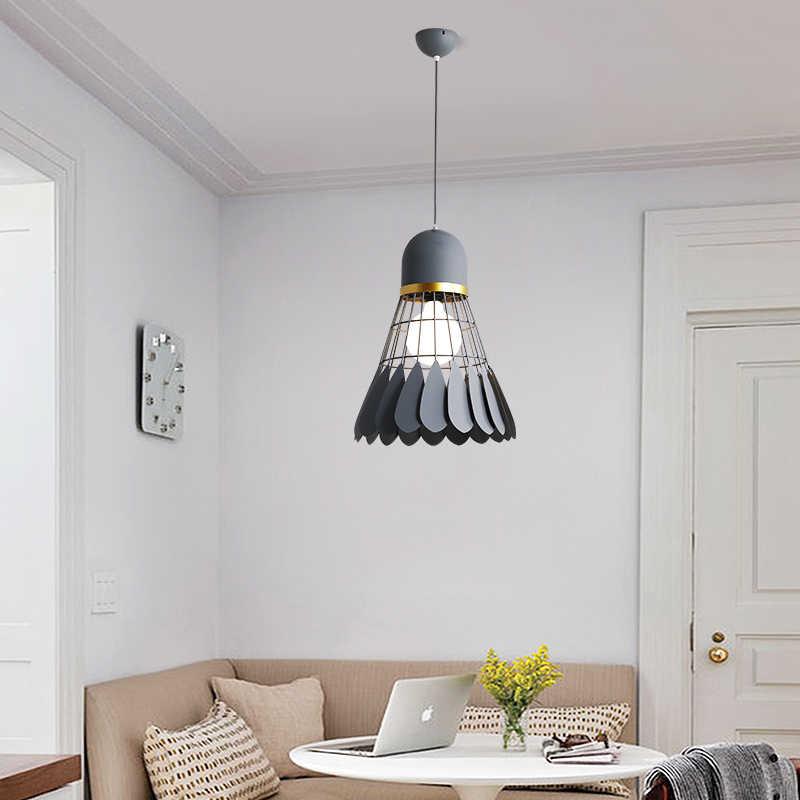 Żyrandol Badminton minimalistyczny nowoczesny skandynawski lampa do restauracji lampa do jadalni osobowość twórcza bar study lampka do sypialni
