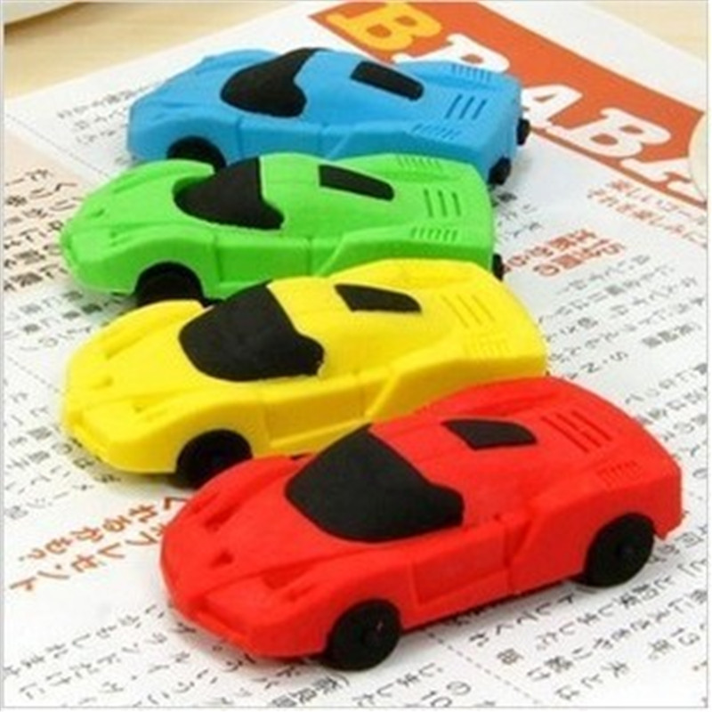 DL D609 Children's Day Gift Removable Car Eraser Rubber Stationery Learning Supplies  Stationery For Office Supplies Students