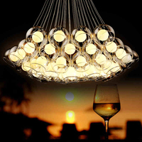 Simple Modern Art Bubble Ball Glass Chandelier Lighting Living Room Chandelier Stylish Personality Restaurant LED Chandelier