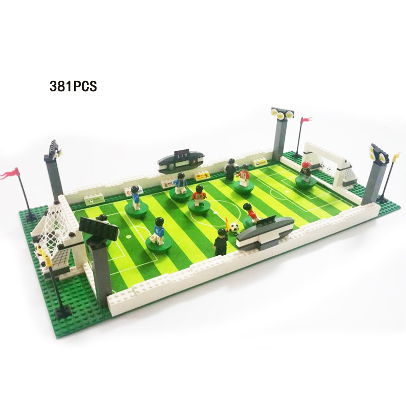City 2018 world football sports competition stadium building block Germany player Ball-game star figures bricks toys for boys