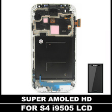 100% Testé AMOLED LCD Pour Samsung Galaxy S4 i9505 LCD Affichage Écran Tactile Cadre Digitizer Assemblée Remplacement trempé verre