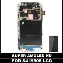 100% Probado AMOLED LCD Para Samsung Galaxy S4 i9505 LCD Asamblea Capítulo de Pantalla Táctil Digitalizador Reemplazo de vidrio templado