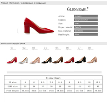 High Heels Shoes  Pumps Patent leather Spring Single Woman   Thick Heels Pointed Toe Leopard Female Pumps