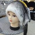 Venta caliente de piel de visón sombrero de piel de visón real para las mujeres de invierno gorros cap sombrero Noble, hecho a mano