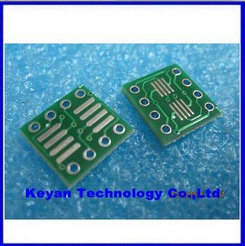 100 יחחבילה SO8 MSOP8 SOIC8 TSSOP8 SOP8 להפוך DIP8 IC PCB צלחת מתאם שקע מתאם PB-FREE ללא פינים