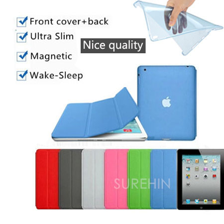 Nice 2 in 1+hard & soft tpu silicone back case+slim thin+magnetic+pu leather smart cover for apple ipad air 2 case 6 cover flip makita 6408
