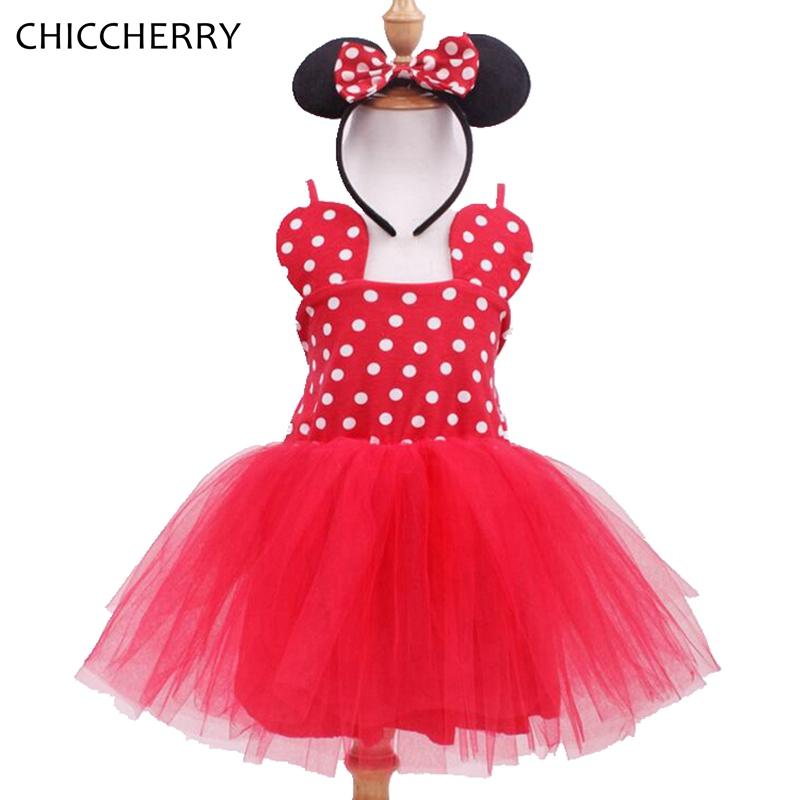 Fantasia Minnie Infant Wedding Dress Headband Baby Jurkjes Lace Tutu Girls Dresses Summer 2017 Party Toddler Birthday Outfits baby girl 1st birthday outfits short sleeve infant clothing sets lace romper dress headband shoe toddler tutu set baby s clothes
