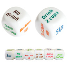 Hot sale 1pc Drinking Wine Mora English Dice Games Gambling Adult Sex Game Lovers Bar Party Pub Drink Decider Fun Toy(China)