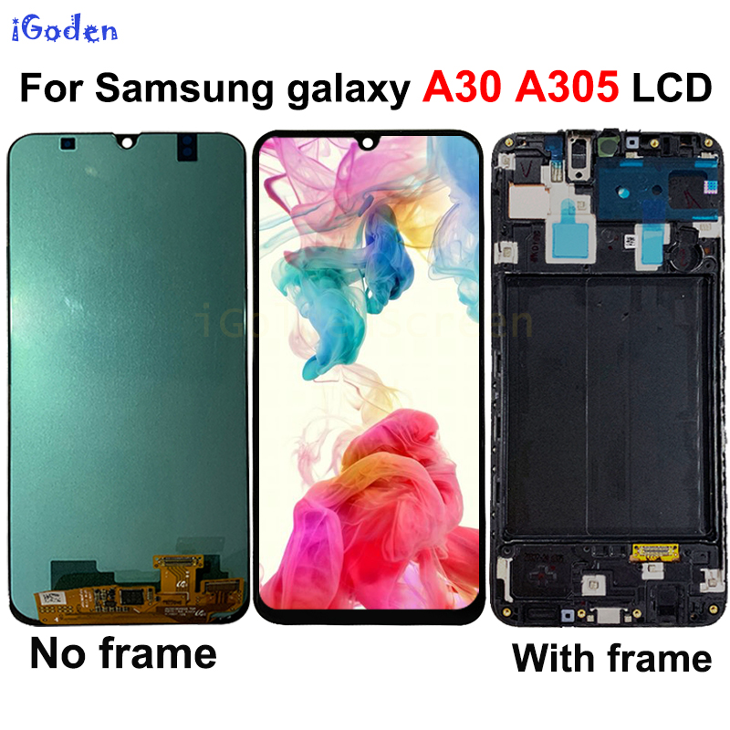 For Samsung galaxy A30 A305 DS A305F A305FD A305A LCD Display Touch Screen Digitizer Assembly with