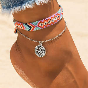 KISSWIFE Anklets For Women Bracelets Beach 2 PCS/Set