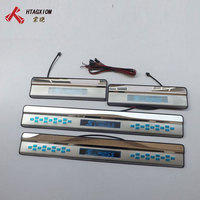 for Suzuki SX4 S Cross 2013 2017 Stainless Steel Led Door Sill Strip Welcome Pedal Auto Car Styling Stickers Accessories 4 Pcs