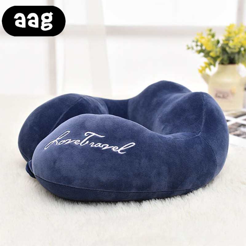 AAG Travel Pillow Neck Cushion Portable Airplane Sleep Head Rest Health Care Neck Support Cushion Pillow Car FlightTravel Pillow in Decorative Pillows from Home Garden