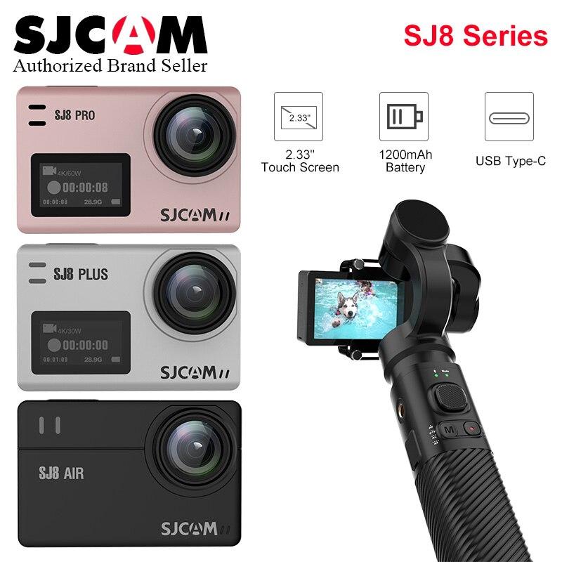 SJCAM SJ8 série caméra d'action SJ8 Air & SJ8 Plus & SJ8 Pro yi 4 K écran tactile avec Anti secousse sport DV Match avec cardan à main