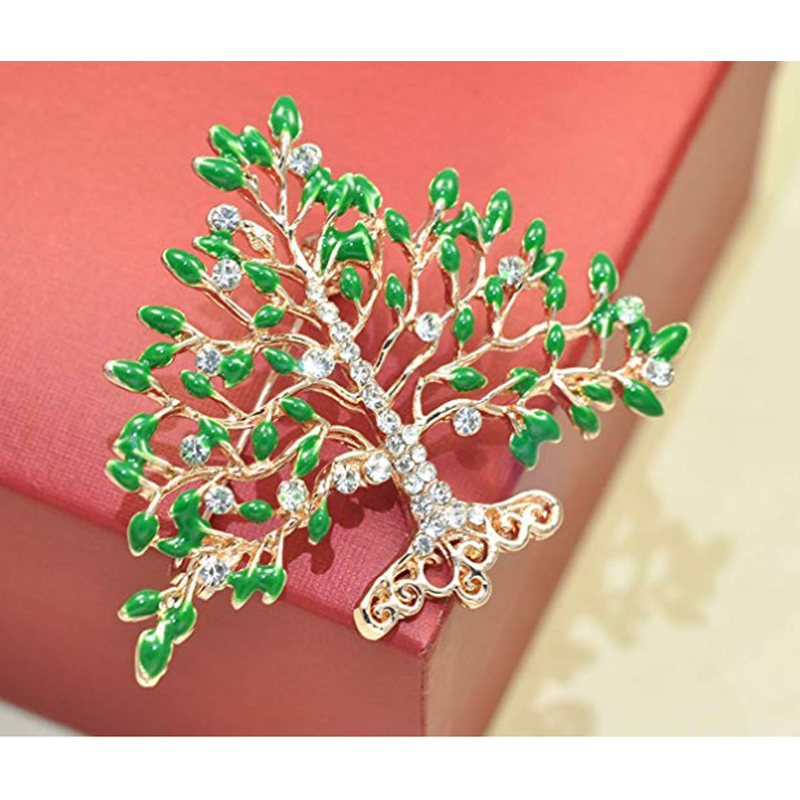 50/100pcs Fancy Rhinestone green enamel Apple Fruit Floral Tree Gold plated Brooches pin for wedding50/100pcs Fancy Rhinestone green enamel Apple Fruit Floral Tree Gold plated Brooches pin for wedding