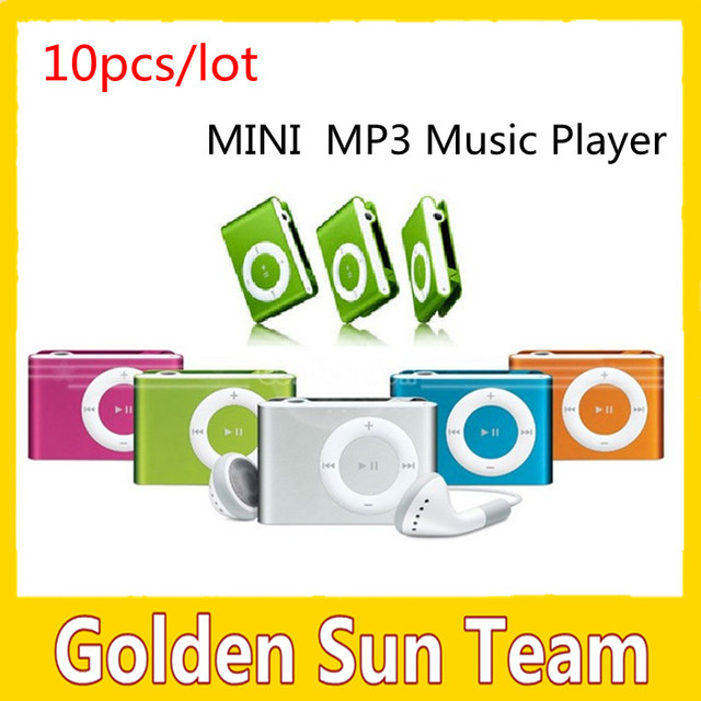 Wholesale 10pcs/lot! Free Shipping MINI Flash Gift clip MP3 Music Player with 8 color,Support  1-8GB SD(TF) Card