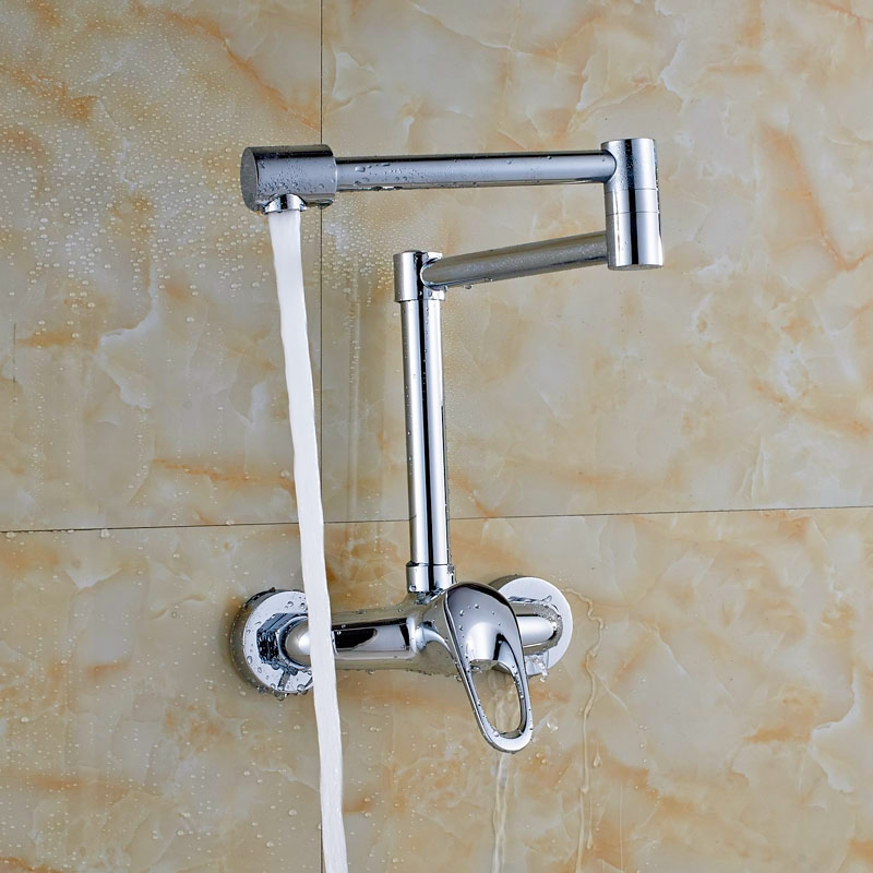 ФОТО Wall Mounted Chrome Finish Laundry Sink Tap Single Lever Bath Washing Machine Tap