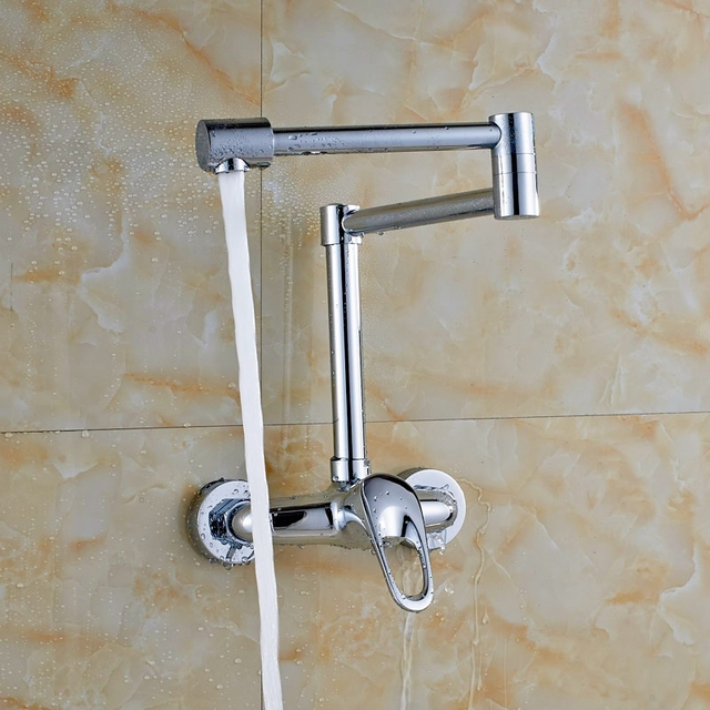 Wall Mounted Chrome Finish Laundry Sink Tap Single Lever Bath Washing  Machine Tap