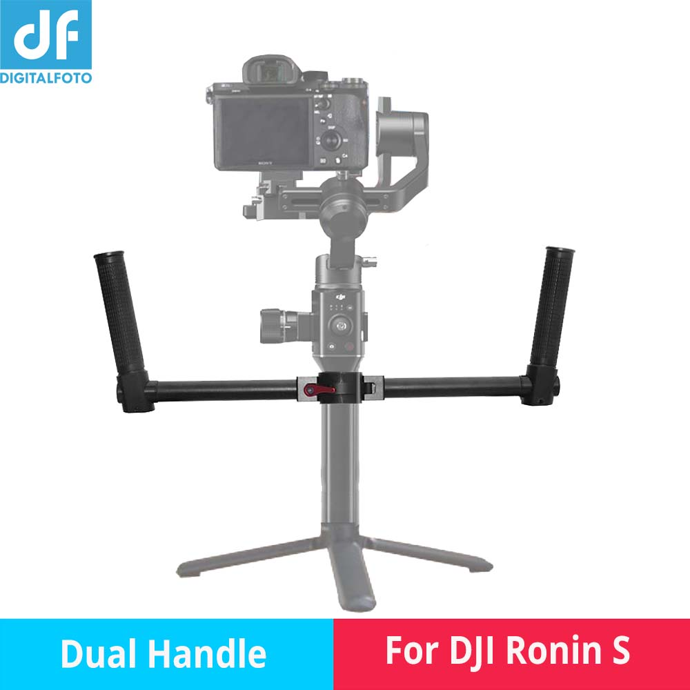DF RS-DH01 RONIN S acessory Gimbal stabilizer dual handle grip bracket holder arm handgrip bars for DJI RONINS S GIMBAL eachshot dh ronins dual handle gimbal grip handheld handlebar for dji ronin s