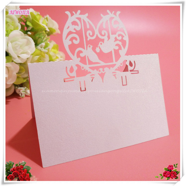 100pcs Laser Cut Place Name Card Table Decor Accessories Mark Name Card  Wedding Birthday Party Table