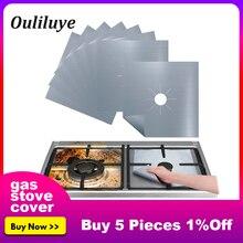 Новейшие 4 шт/1 шт многоразовая фольгированная крышка защитное покрытие для газовой плиты плита горелки для кухни газовая плита коврик для чистки