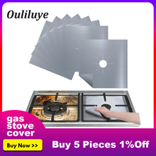 Newest 4PCS/1PCS Reusable Foil Cover Gas Stove Protector Stovetop Burner Sheeting for Kitchen Cooking Cleaning Mat