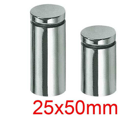 25mm Diameter 50mm Length Acrylic Sheet Nail Stainless