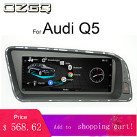 OZGQ Android 8.8inch Touch screen Car Stereo Multimedia System For 2010 2016 3G MMI Audi Q5 GPS Navigation With Mirror Link WiFi