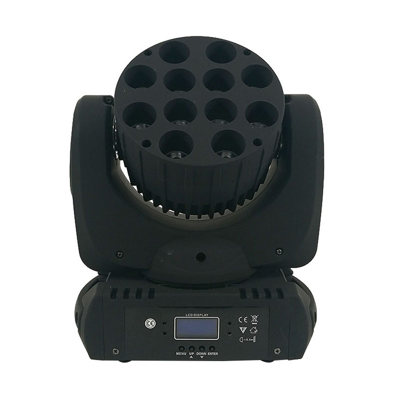 Free shipping 12x12W RGBW 4in1 Cree LED Moving Head Beam,LED With Excellent Pragrams dmx 9/16 Channels DJ
