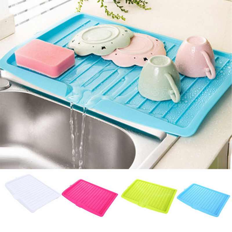 Multifunction Drain Rack Kitchen Plastic Dish Drainer Tray Large Sink Drying Rack Worktop Organizer Drying Rack For Dishes