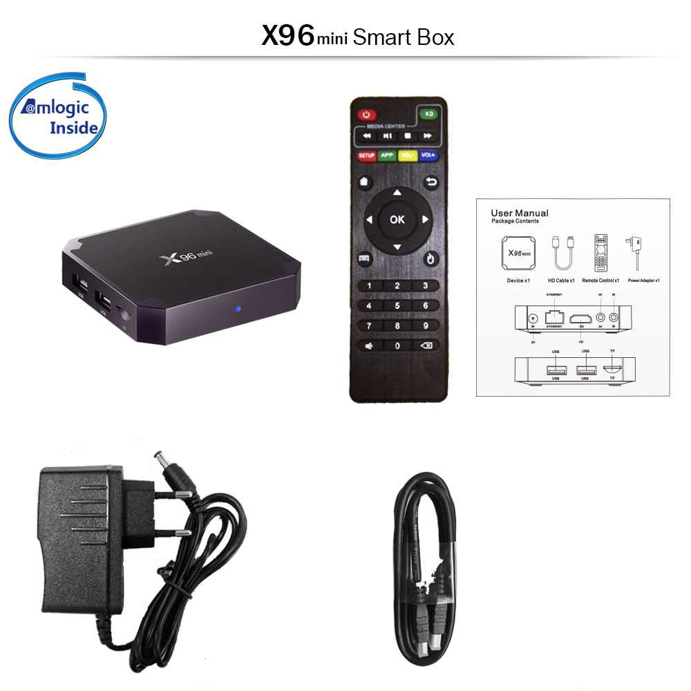 Francés IPTV caja X96 mini android TV box + 1 año de iptv suscripción Neo tv pro para Francia Bélgica árabe IPTV M3U caja de tv inteligente