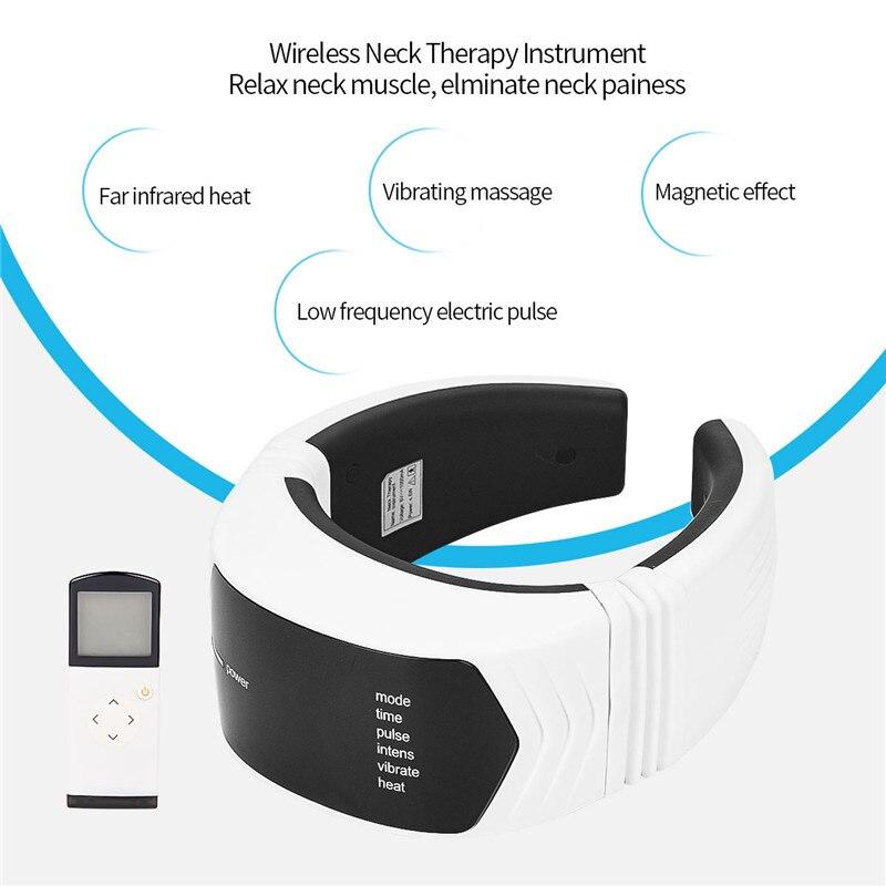 Дальний инфракрасный тепловой массажер для шеи Низкочастотный пульс шейный позвонок инструмент для терапии пульт дистанционного управлен...