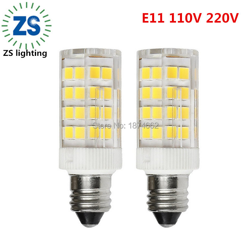 e11 led bulb 4 watt cool white 6000k mini candelabra base 52x2835smd led corn bulb nondimmable ac 110130v - Candelabra Base