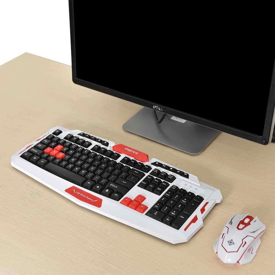 2,4 ГГц Беспроводная мультимедийная игровая клавиатура и мышь комплект мыши для настольного ноутбука