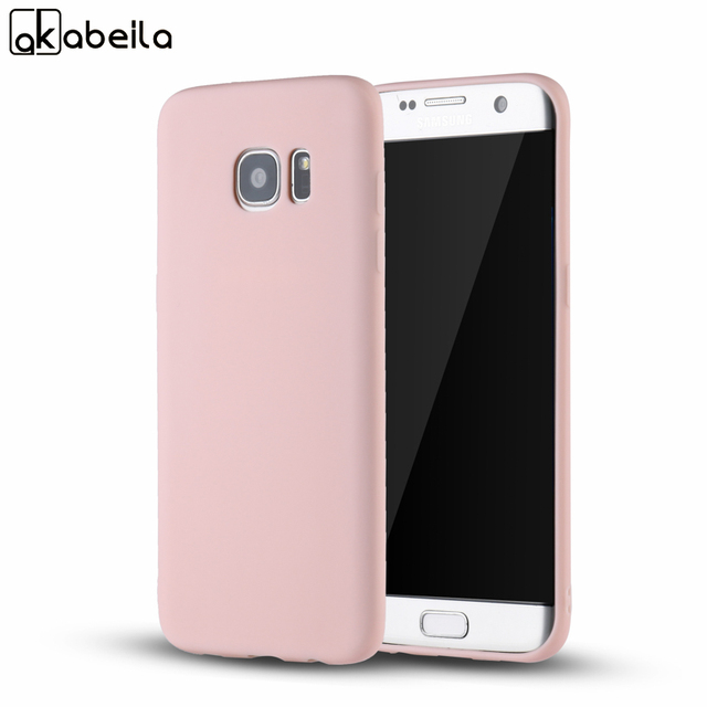 AKABEILA Phone Cover Case For Samsung Galaxy S7 G930F G930FD G930W8 G930 G9300 Soft TPU Back Covers Shells For Samsung S7 Cases