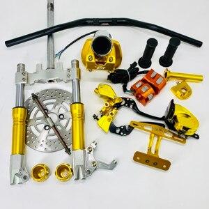 Image 3 - Комплект для руля, набор для скутера с Тормозным Диском, амортизаторы, запчасти для гоночной настройки для jog dio cuxi bws