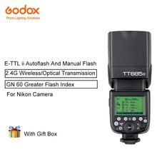 Godox tt685n TTL Скорость lites Камера flash с E-TTL II автовспышка 2.4 ГГц высокое Скорость 1/8000 S G для Nikon Камера s