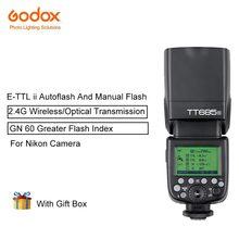 Godox TT685N TTL Speedlites Camera Flash With E-TTL II Autoflash 2.4GHz High Speed 1/8000s G For Nikon Cameras