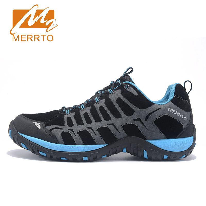 ФОТО 2017 Merrto Mens Walking Shoes Breathable Outdoor Sports Shoes For Male Light Weight Travel Shoes Free Shipping MT18607