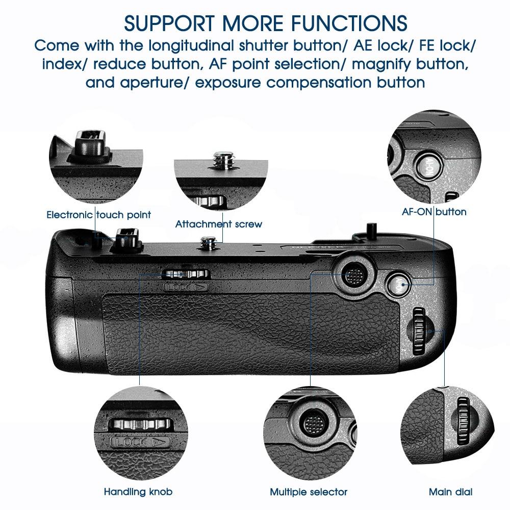 Travor Professionellt Batterihandtag för Nikon D500 DSLR-kamera som - Kamera och foto - Foto 5