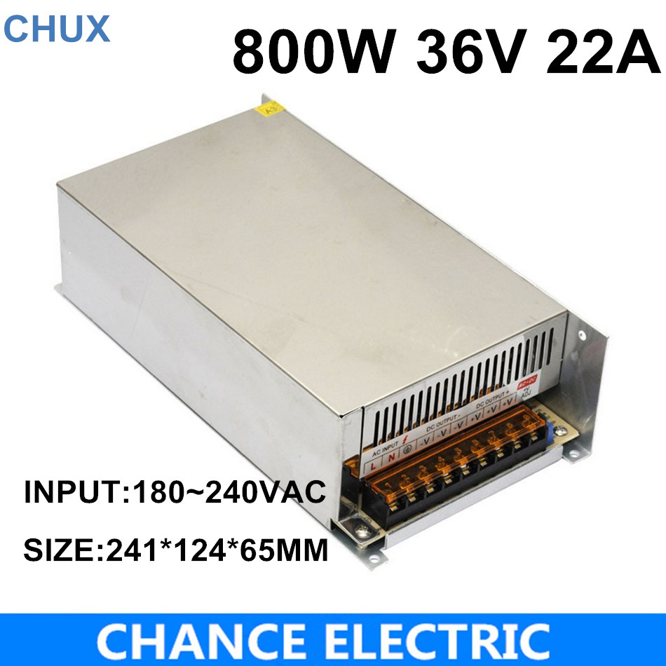 цена на AC-DC 220V 36VDC LED Driver Source CE ROHS Approval High Power SMPS Constant Voltage Output Switching Power Supply 36V 800W
