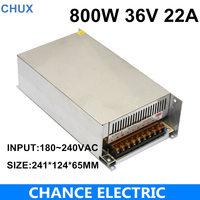 AC DC 220V 36VDC LED Driver Source CE ROHS Approval High Power SMPS Constant Voltage Output Switching Power Supply 36V 800W