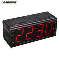 LEADSTAR 5in 1 Bluetooth Speaker 3D Stereo Wireless Alarm Clock Speaker Portable Handsfree MIC TF FM for IPHONE for XIAOMI