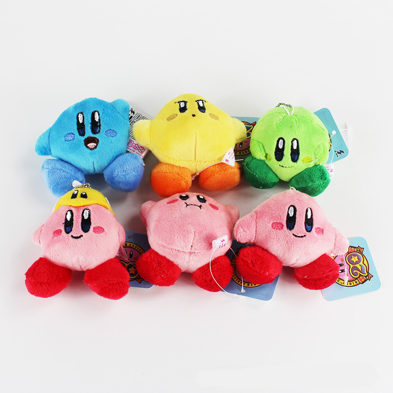 1 Pcs 7 CM Cute Star Kirby Plush Keychain Popopo Small Pendant Children Gifts