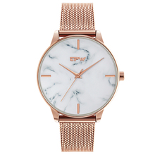 Fashion rose gold Mesh Band Creative Marble Wrist Watch Casual Women Quartz Watches Gift Relogio Feminino water resistant 3ATM цена 2017
