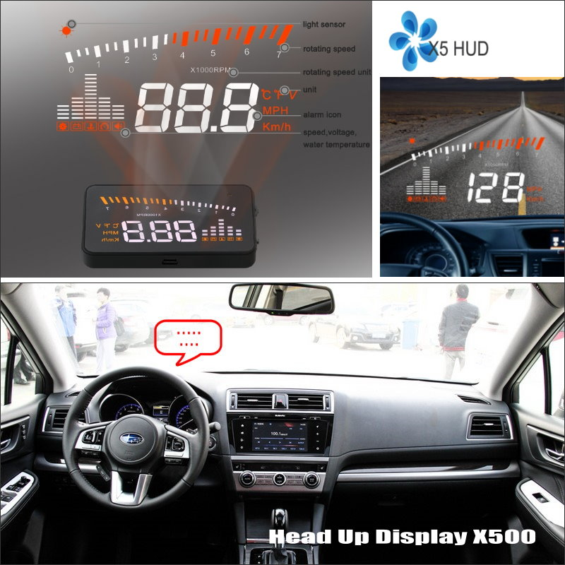 ФОТО Car HUD Head Up Display For Subaru Outback MY11 2009-2014 - Safe Driving Screen Projector Refkecting Windshield