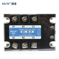 KZLTD AC AC 3 Phase Solid State Relay 80A 90 280V AC Control 30 480V AC