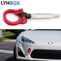 Sports Red Track Racing CNC Aluminum Tow Hook Towing Bar Car Auto Trailer Ring For Subaru WRX STI BRZ 2015 2017 Easy To Install