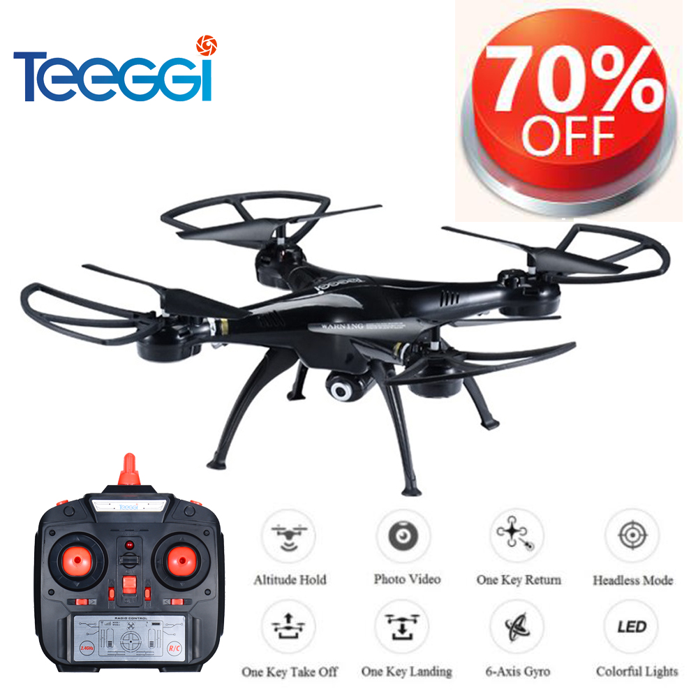 Teeggi M5A RC Drone With 5MP 1080P HD Camera 6 Axis Remote Control Toys Helicopter Quadcopter